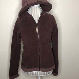 Patagonia brown synchilla  hooded zipup